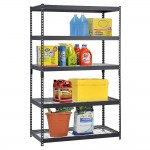 Edsal-Adjustable Black Steel Shelving Unit-5 Tier-Extra Strong-Review