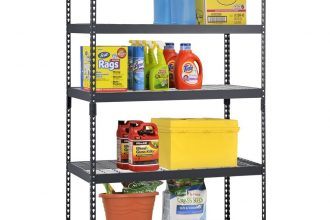 Review of Adjustable Black Steel Shelving Unit