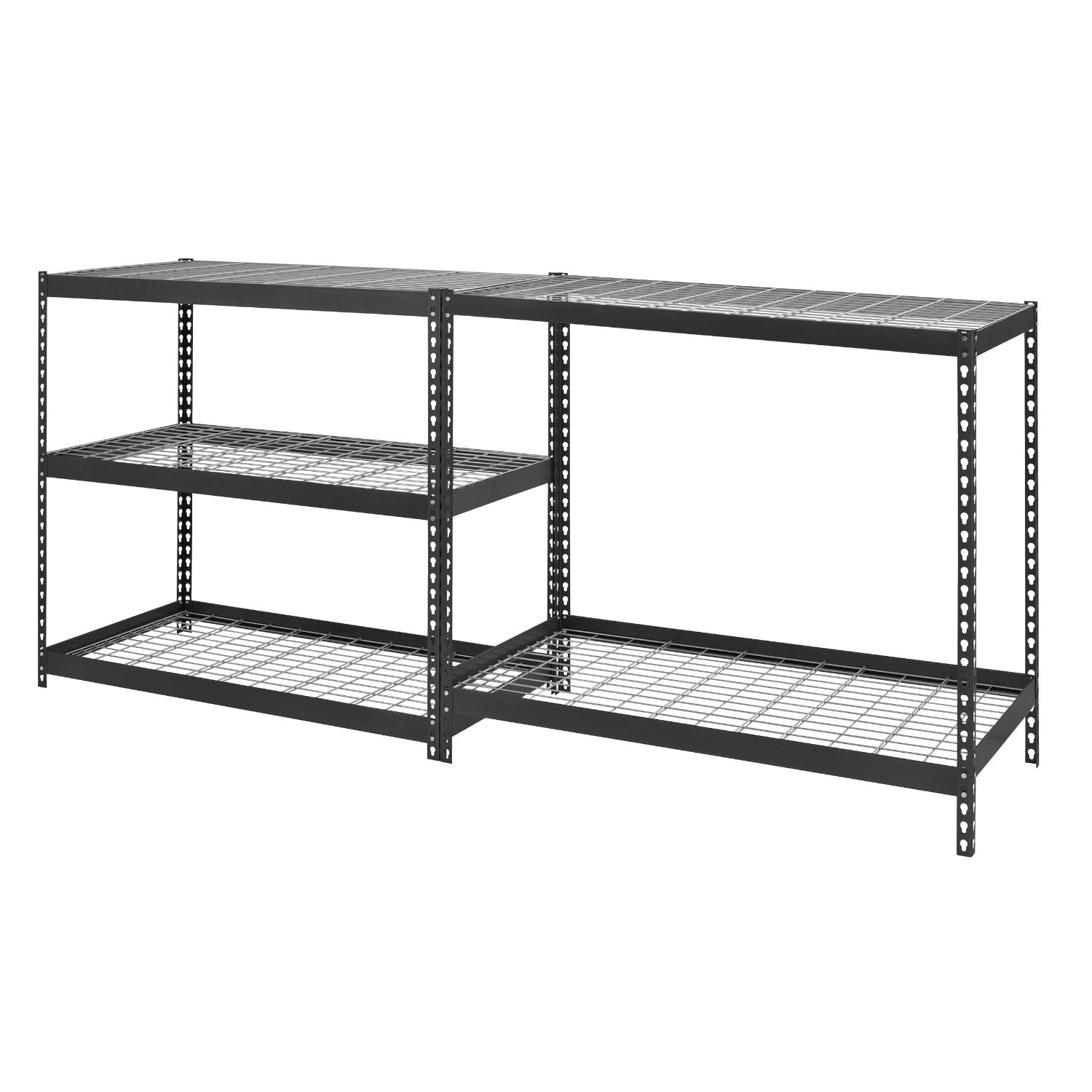 Adjustable Black Steel Shelving Units 5 Tier Review