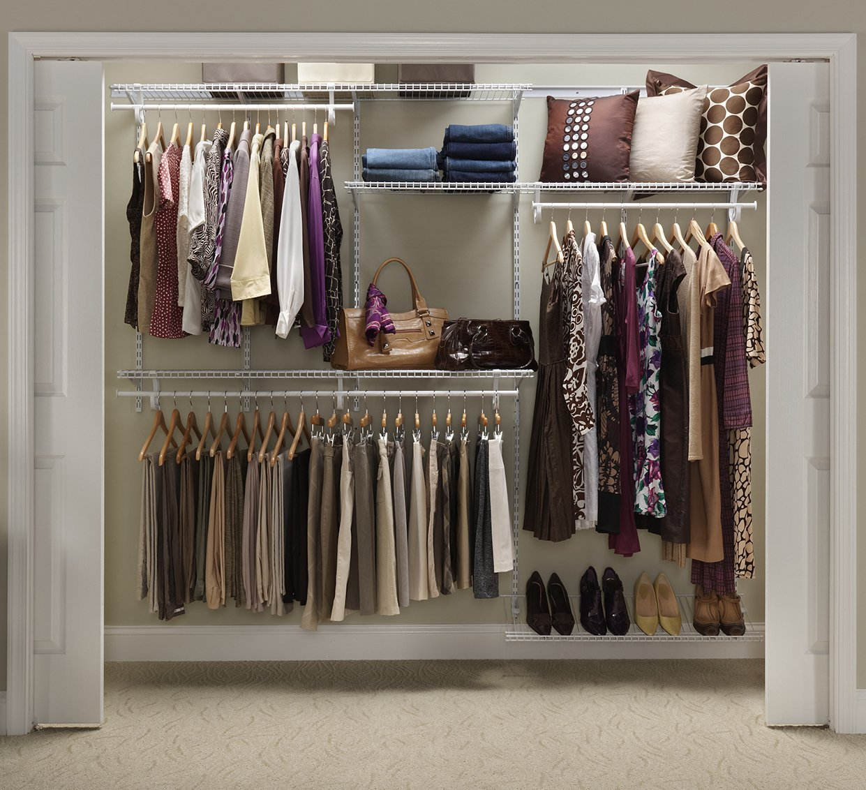 Closetmaid Adjustable Closet Organizer 5 Feet To 8 Feet: pictures of closet organizers