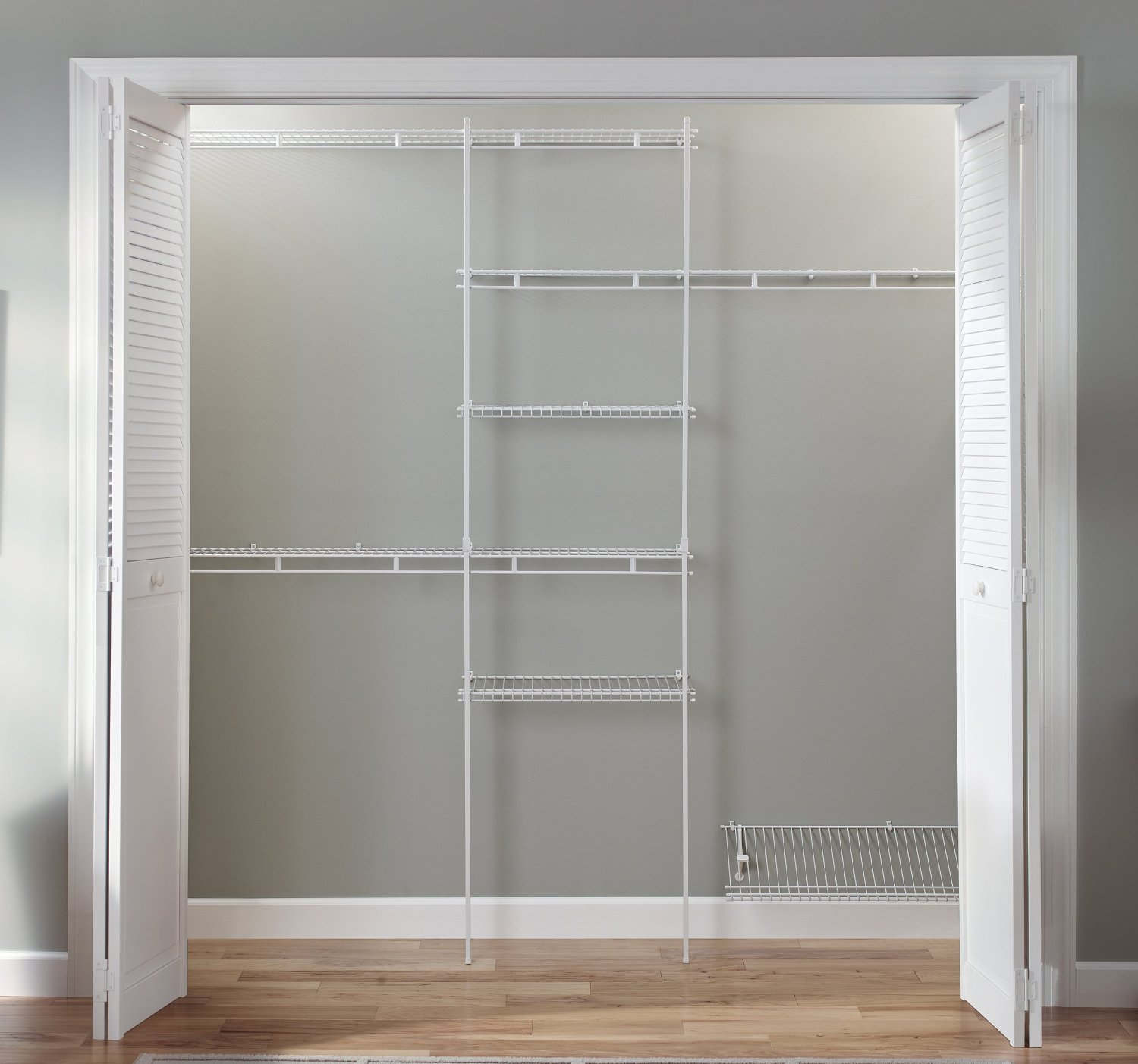 Do It Yourself Home Design: Closet Organizer Kit-White Color-5 Feet To 8 Feet-ClosetMaid