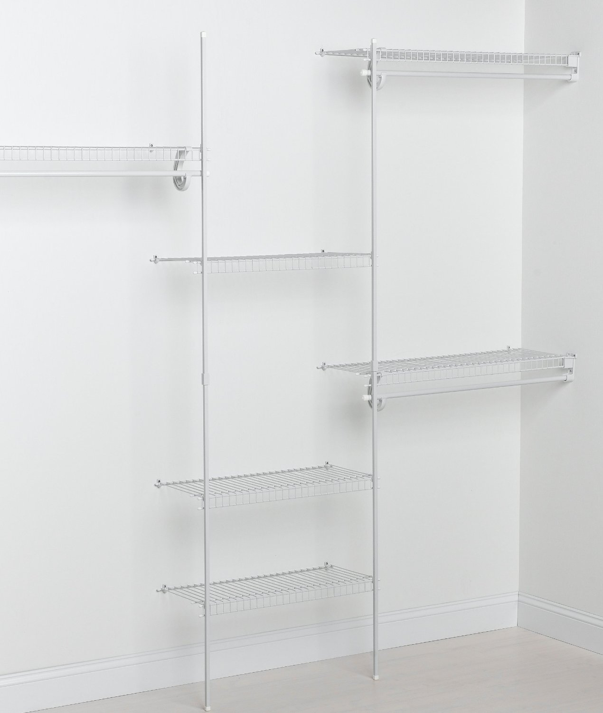 Fixed Mount Closet Organizer Kit White 5 To 8 Feet