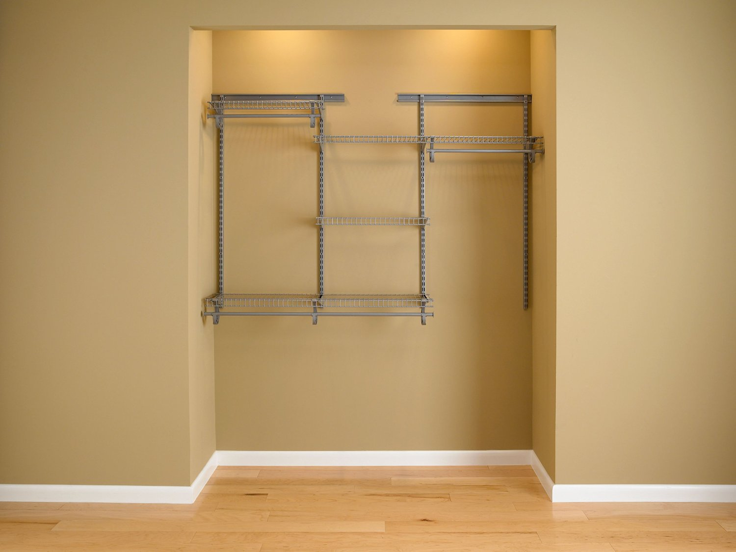 Mini Closet Organizer Unit Satin Chrome 4 To 6 Feet Review