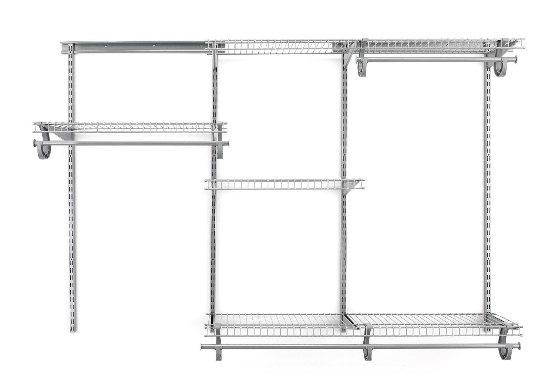 Satin Chrome Mini Closet Organizer Unit