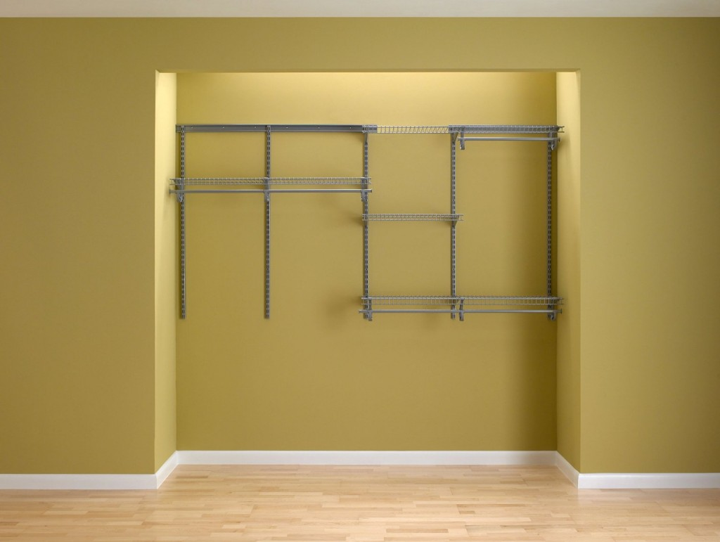 Closet Shelving System Satin Chrome 5 Feet To 8 Feet