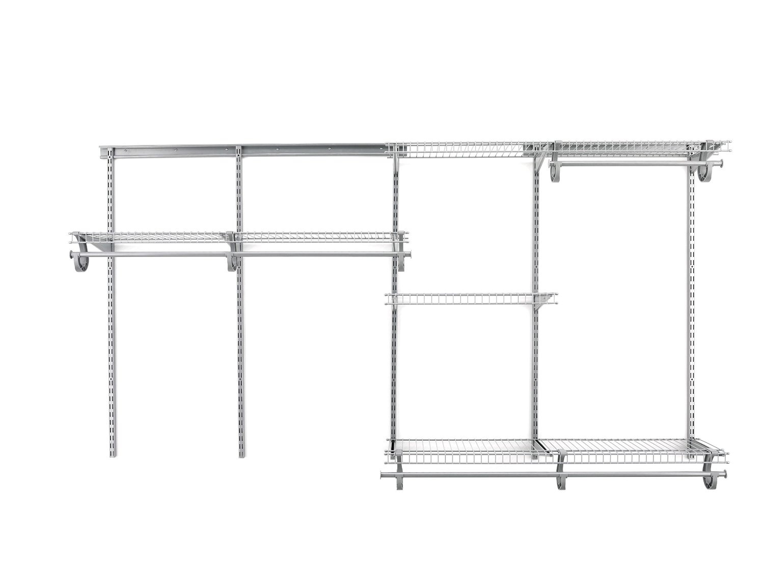 Superieur Satin Chrome Based Closet Shelving System