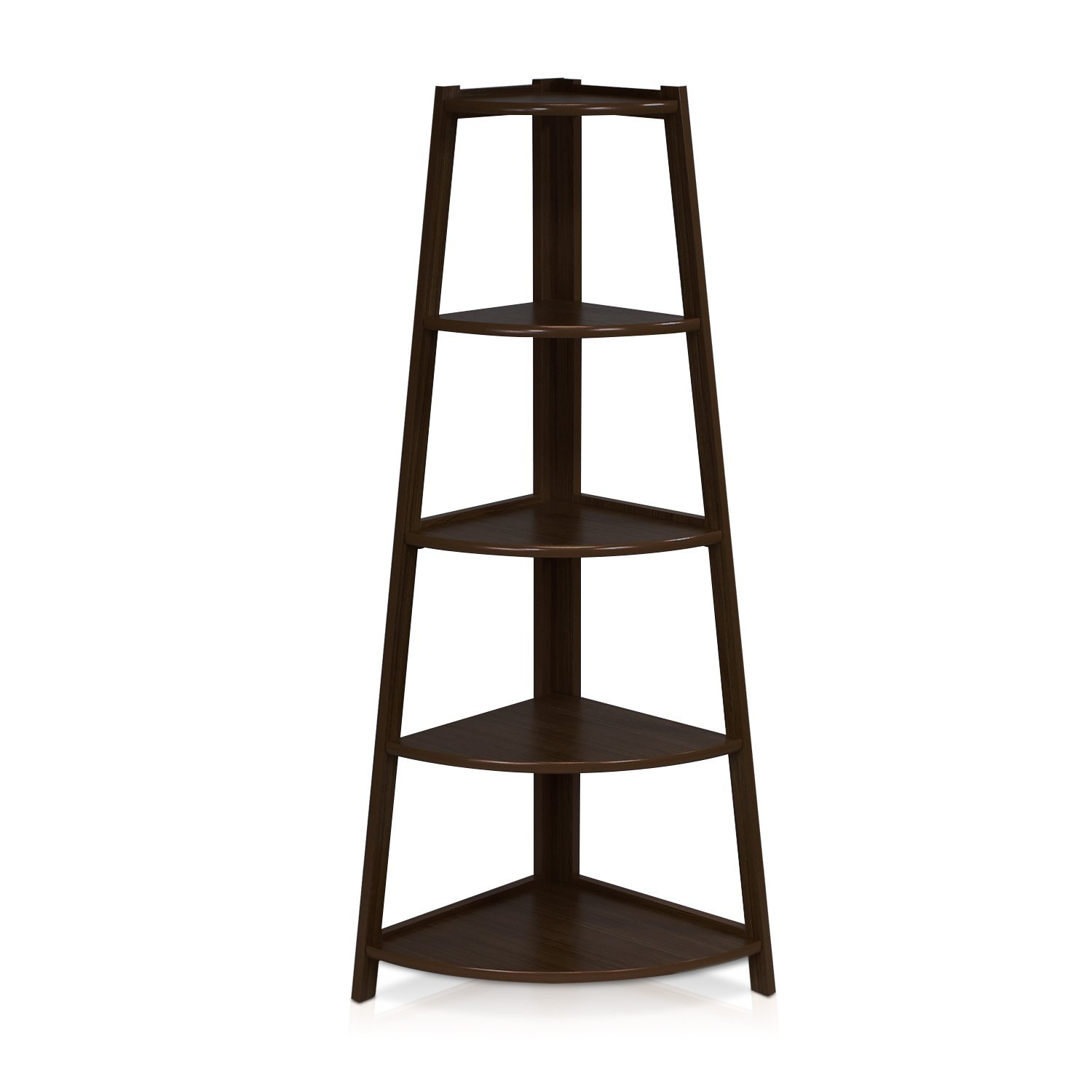 Furinno-5 Tier Corner Ladder Shelf with Espresso Black Color  Review