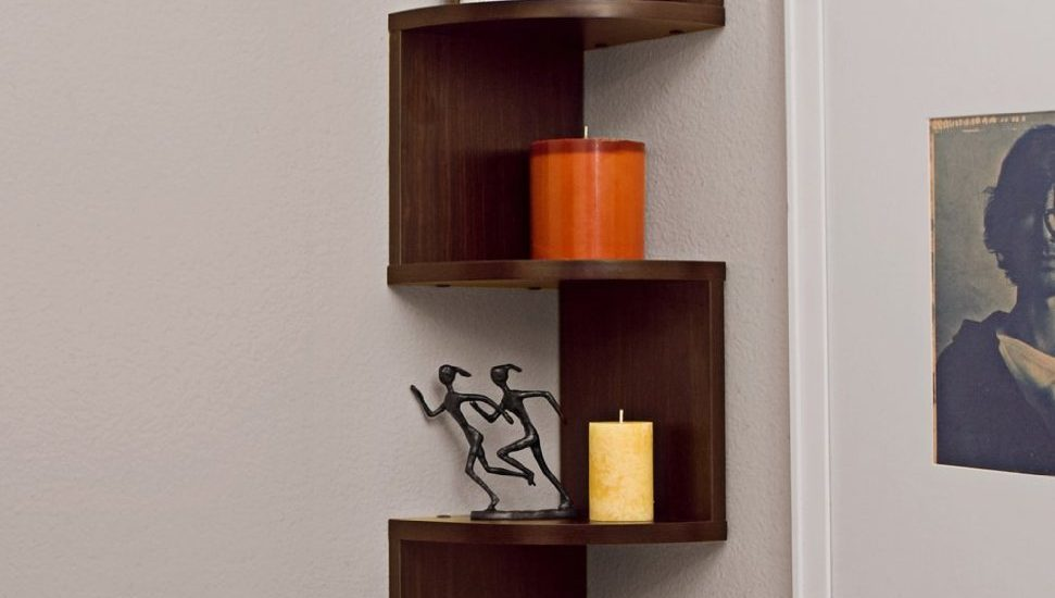 Large Corner Wall Mount Shelf Corner Shelves Wall Mount
