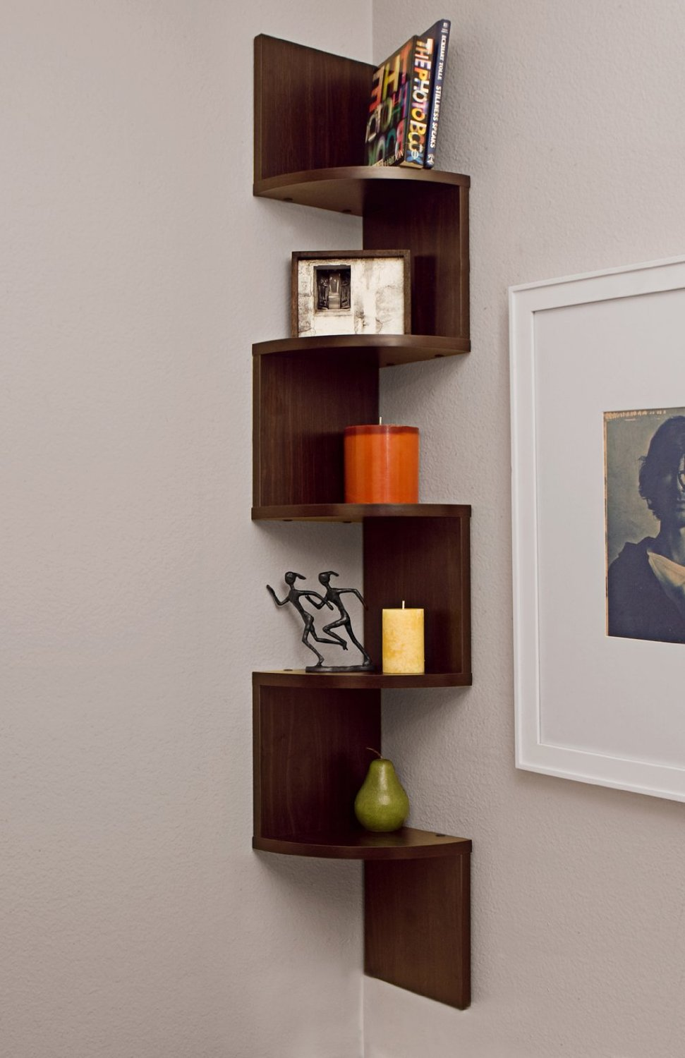 Wall Hanging Bookshelves large corner wall mount shelf (corner shelves wall mount) - review