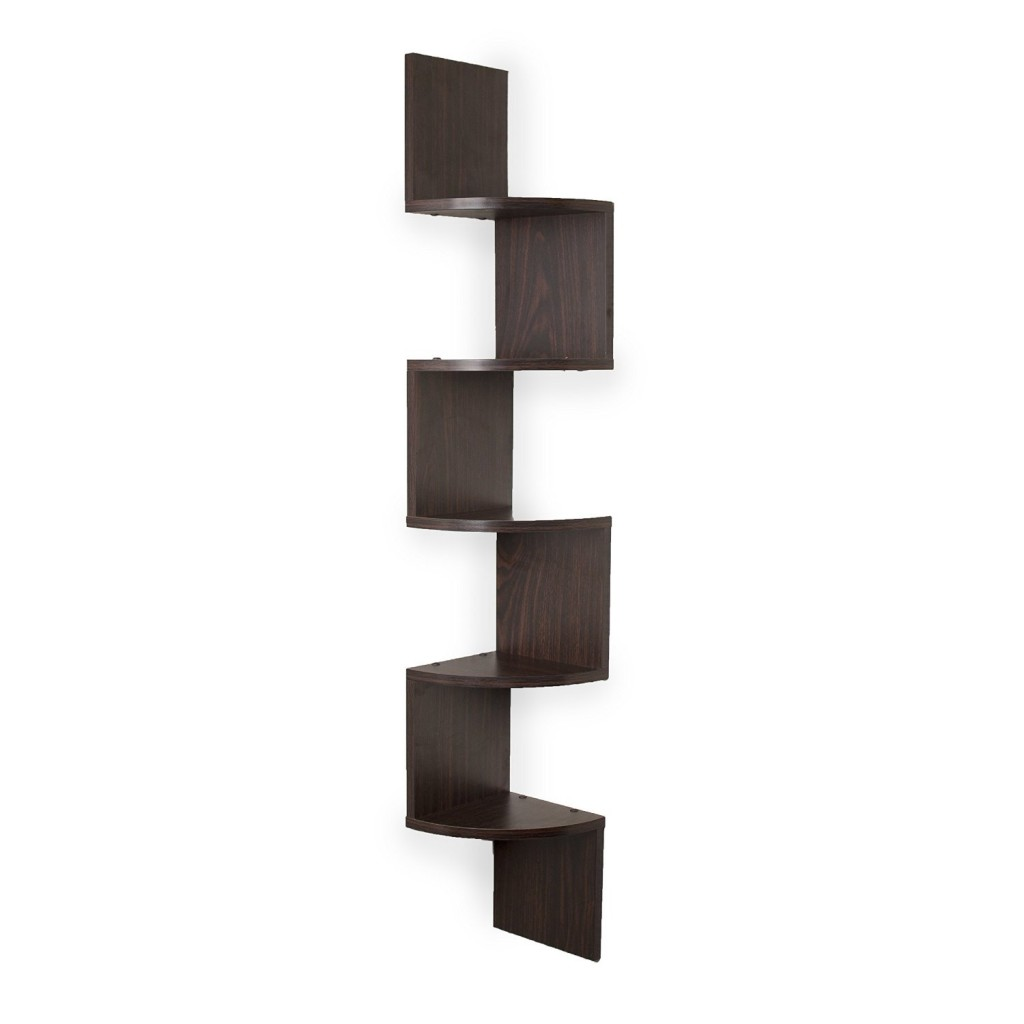 wall mount shelf zig zag
