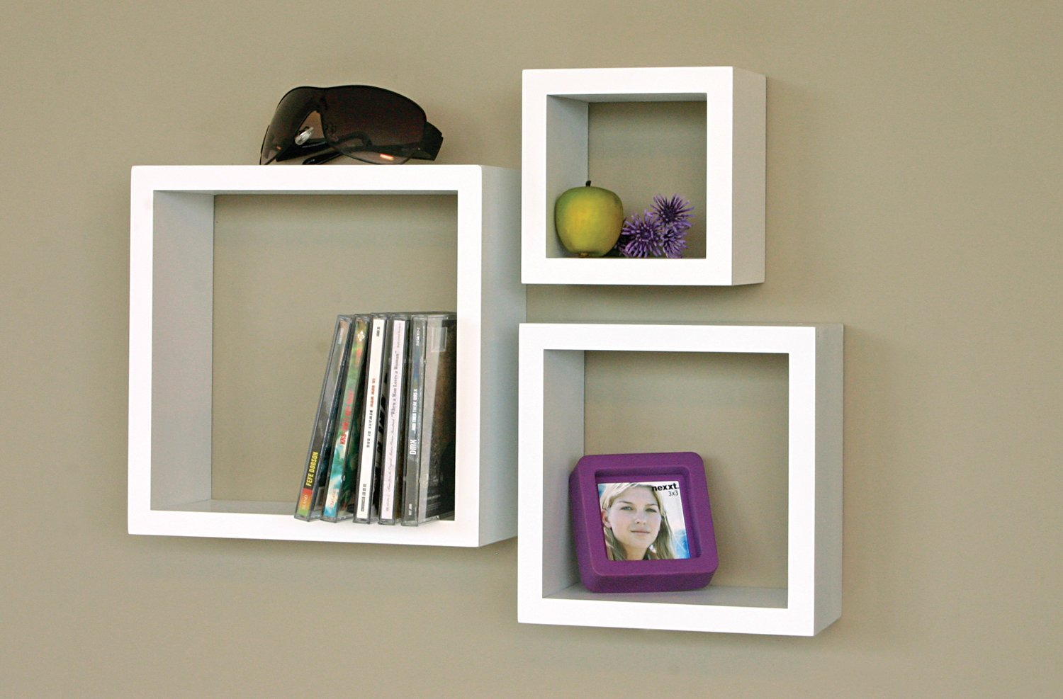 White floating wall shelves set of for your rooms