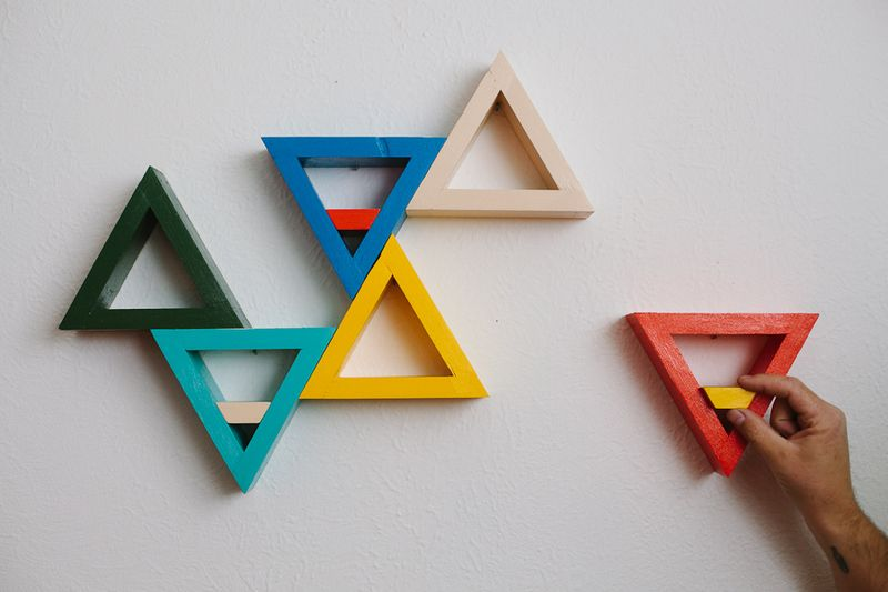 triangle-shelves