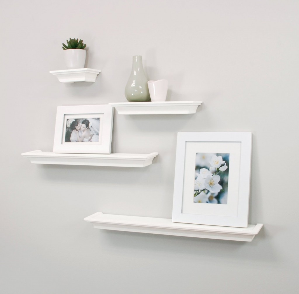 Top 20 white floating shelves for home interiors nexxt classic multi length shelves white set of 4 amipublicfo Gallery