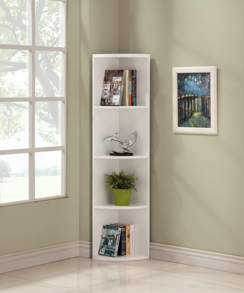 White_5_tier_corner_bookshelf