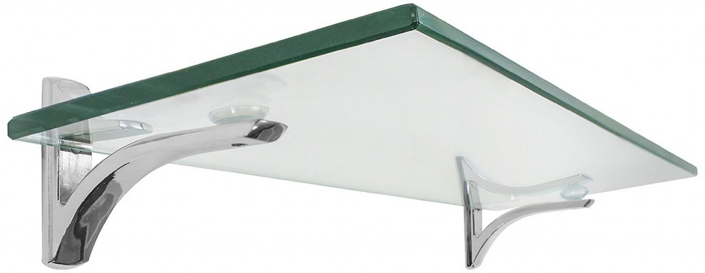Decopolitan Gravity Mount Glass Bathroom Shelf In Chrome:  Bathroom_glass_shelf