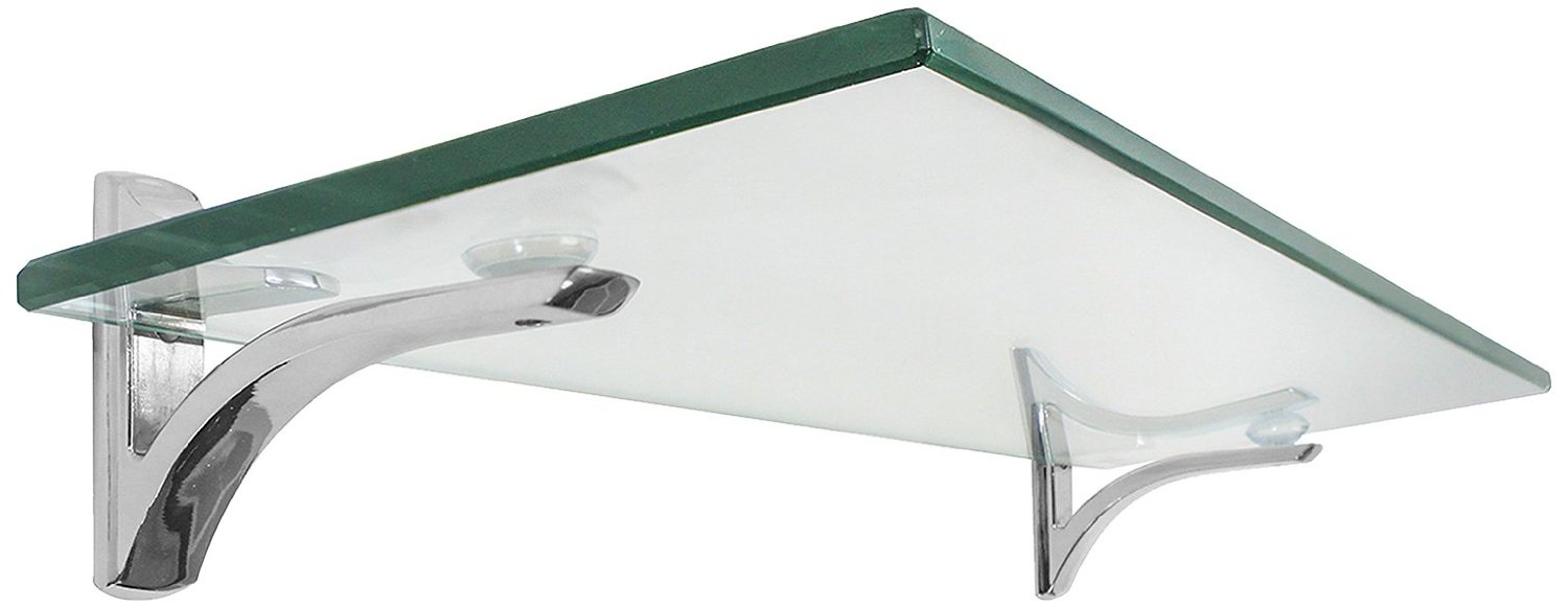 Lastest Glass Bathroom Shelf With Chrome Towel Bar Oi16916 By Organize It A