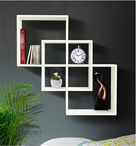 Shelving Solution Quadrate Decorative Wall Shelf (white):