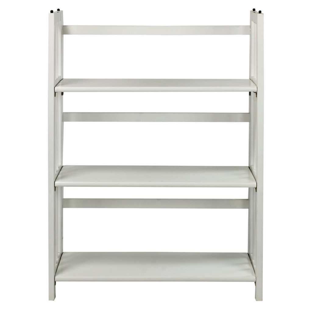 3 shelf folding stackable bookcase