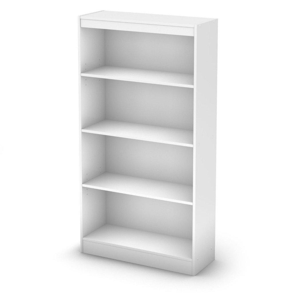 4 shelf bookcase white