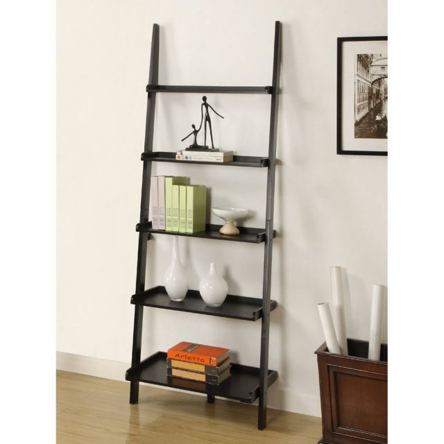 5 tier leaning ladder bookshelf