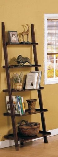 walnut shelf 5 tier book shelf