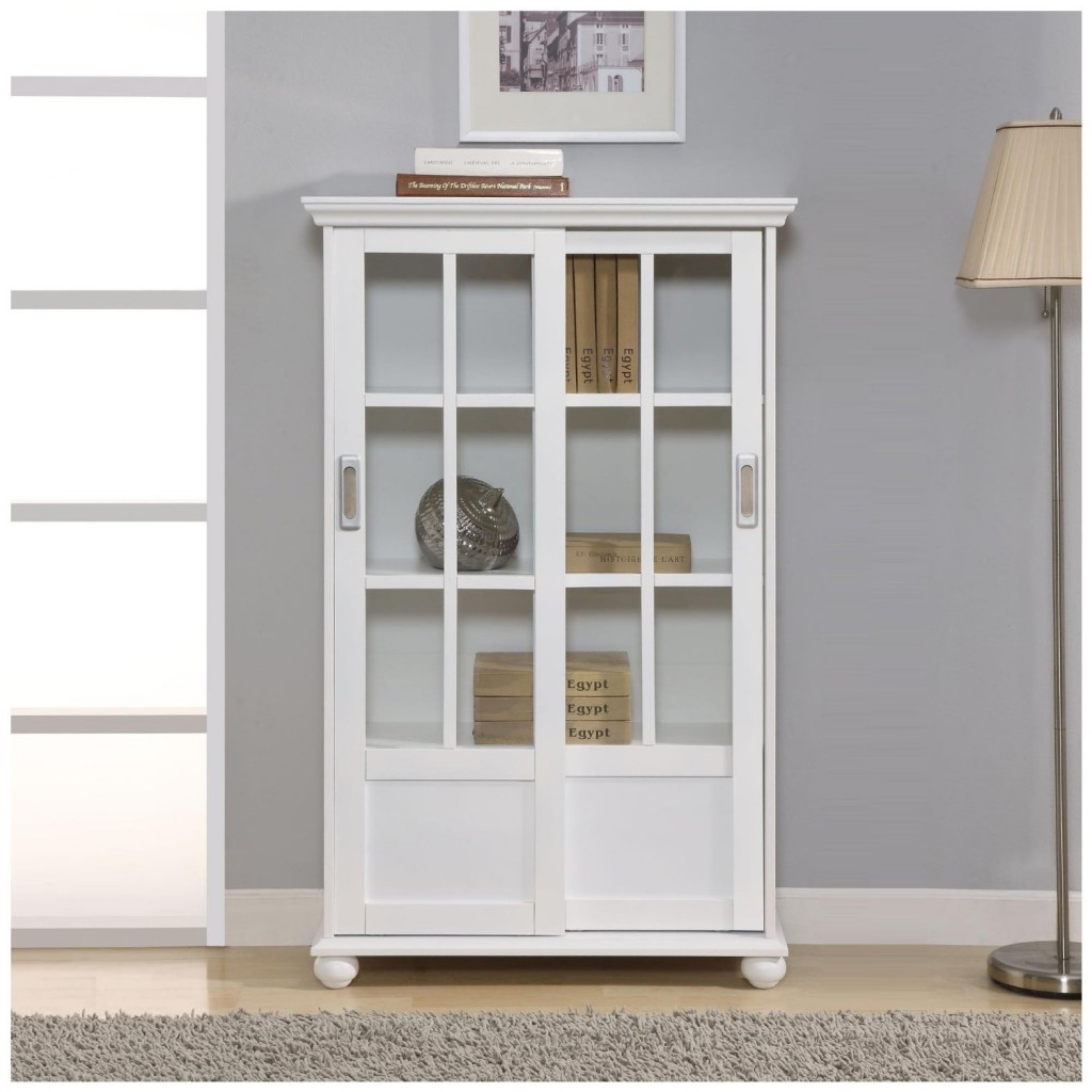 white bookcase bookshelf with doors
