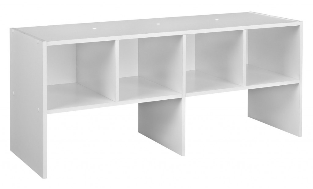 white horizontal bookshelf 2