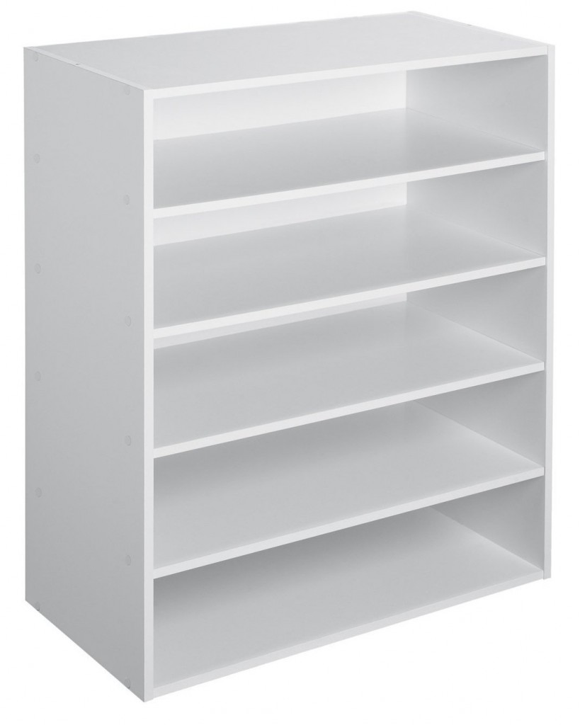 white horizontal bookshelf