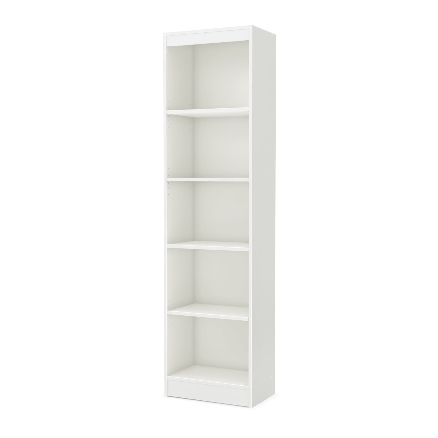 South Shore Axess Collection 5 Shelf Narrow Bookcase Pure White