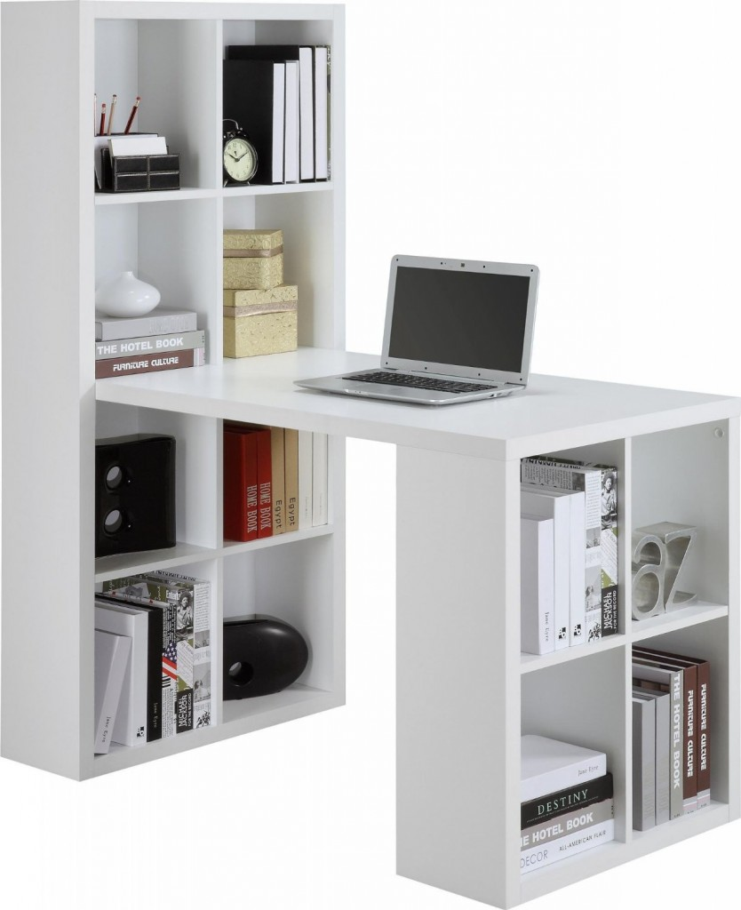 work desk white shelf