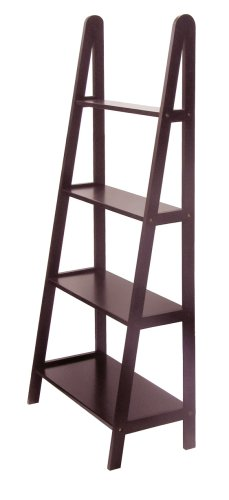espresso ladder bookcase