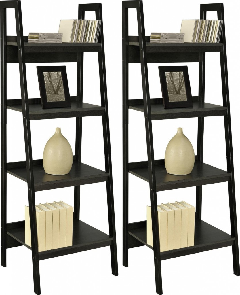 metal frame bundle ladder bookcase