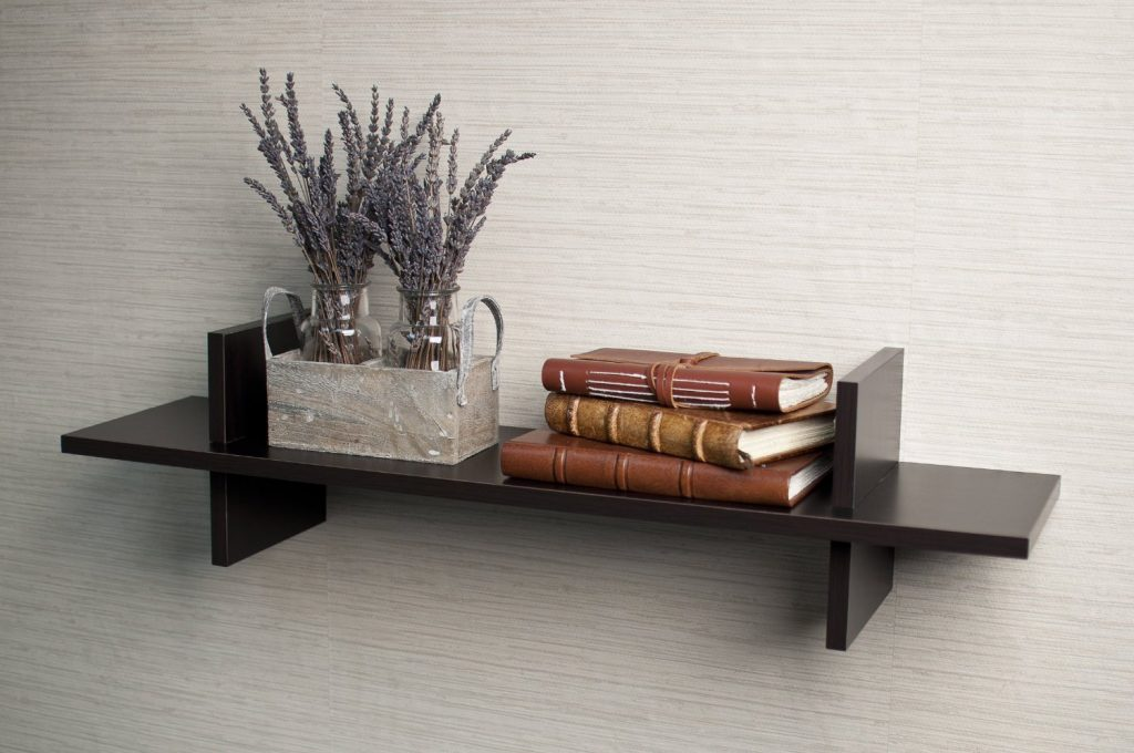 small h shaped shelf for wall