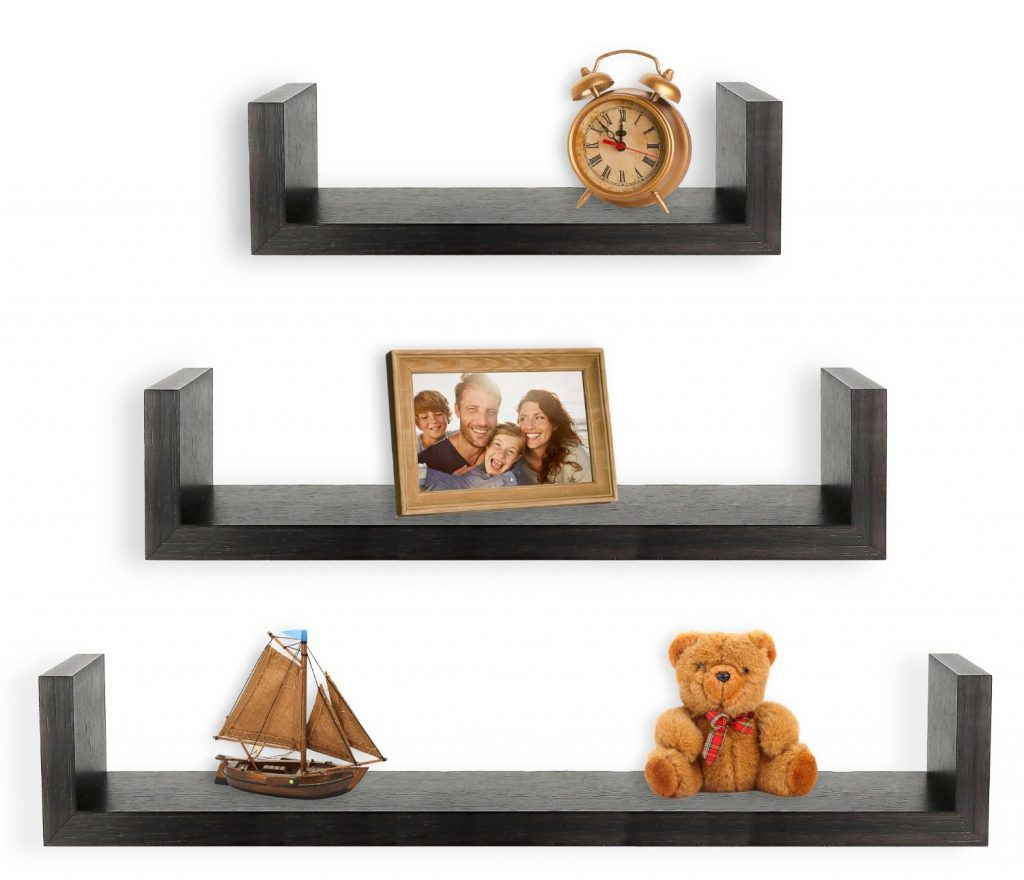 small shelves for wall - u floating shelf