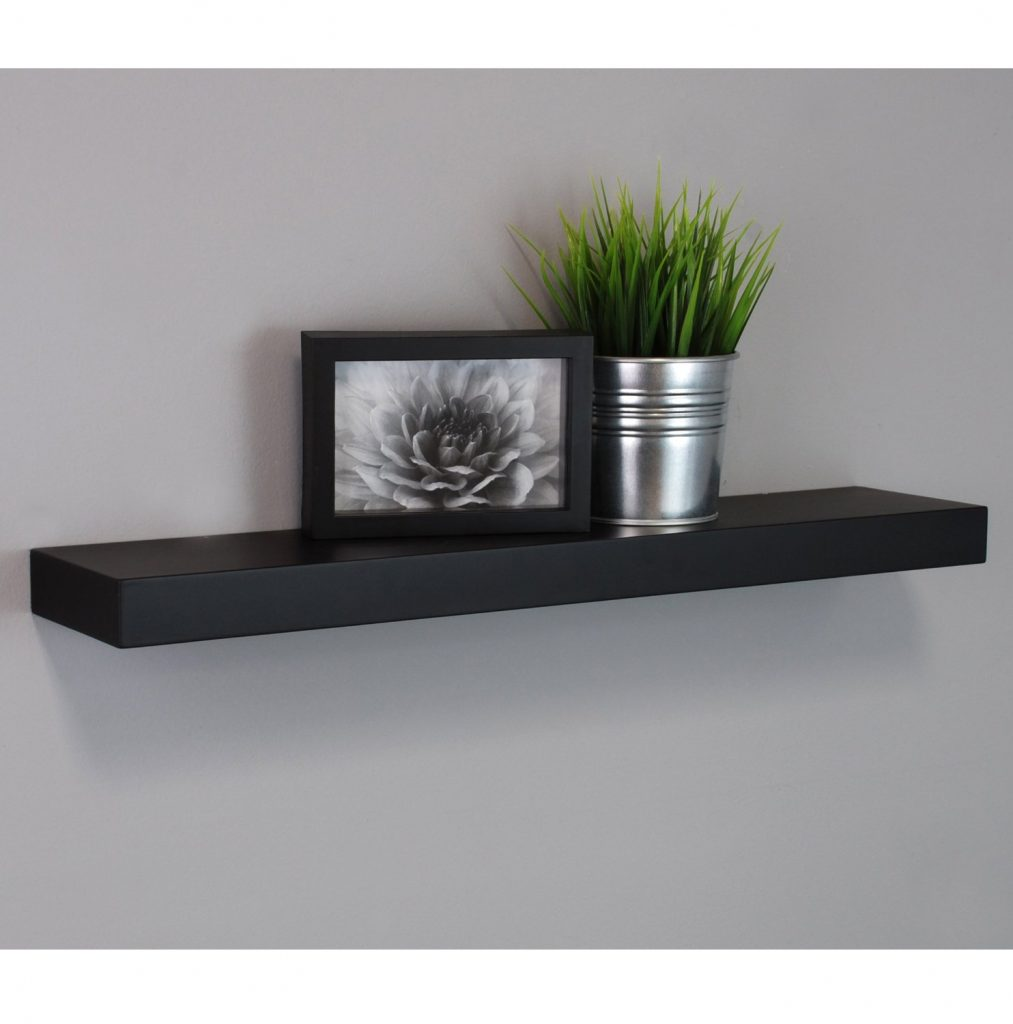 small wall shelves black 1