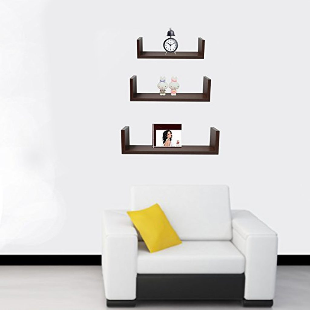 small wall shelves -u floating shelf