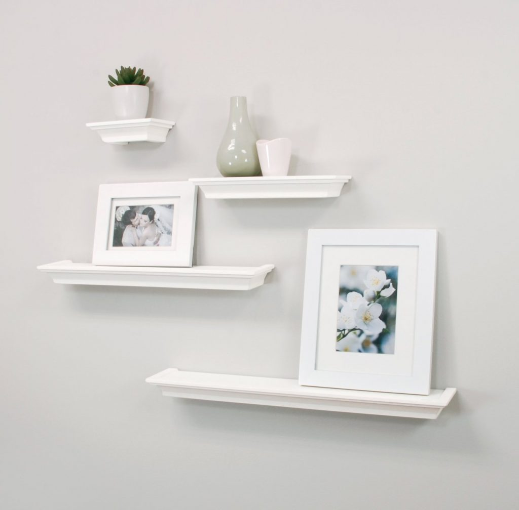 white floating shelf cheap