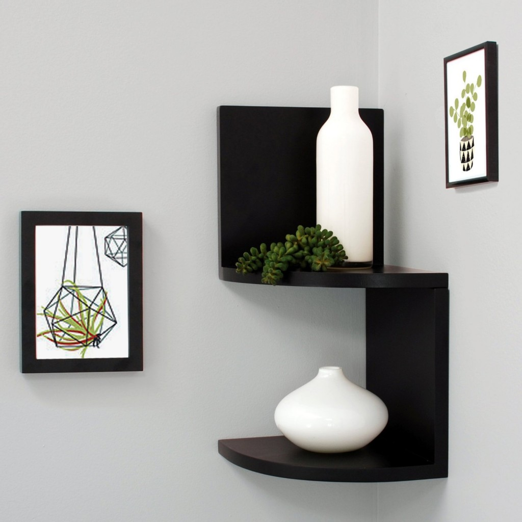 2 Piece - Ladder Type Corner Wall Shelf