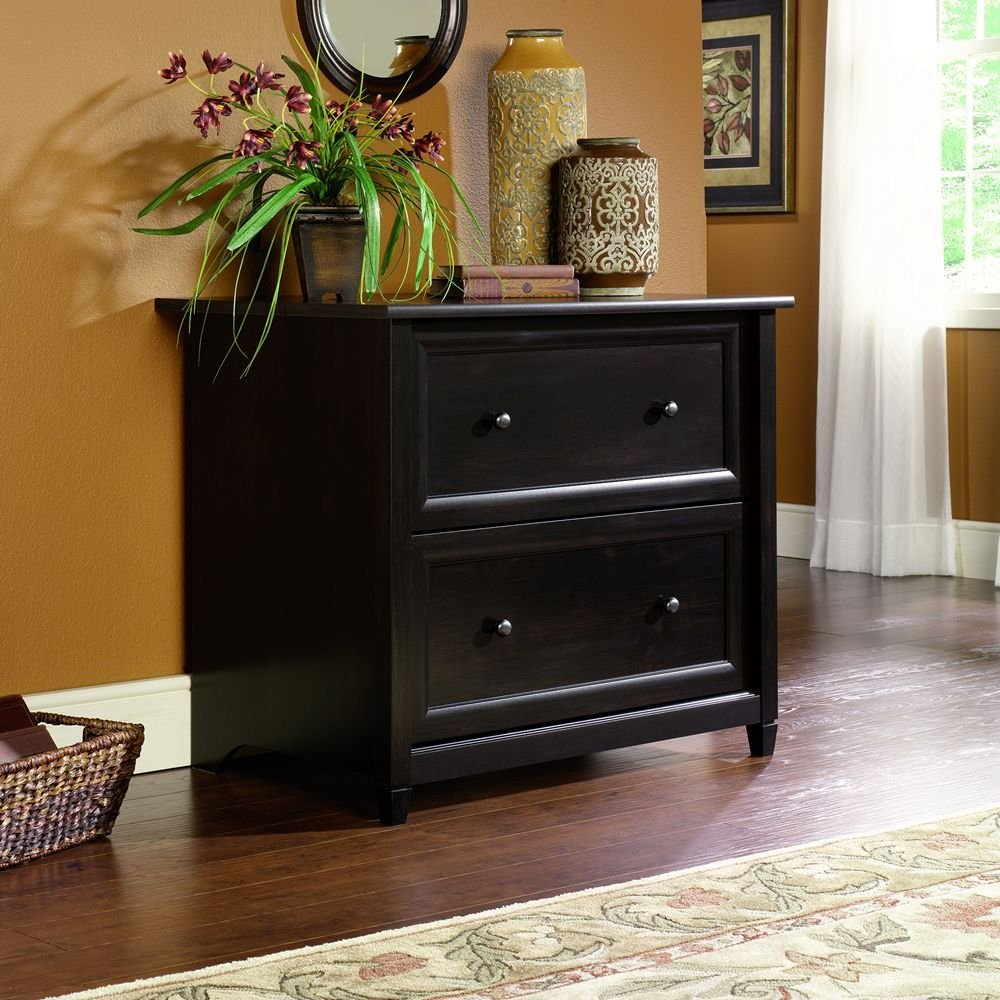 Attirant Black Decorative File Cabinet