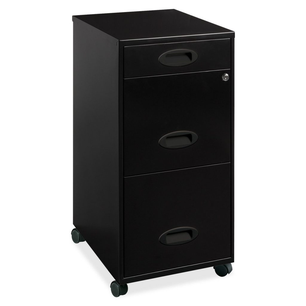 Rolling file cabinet 3 drawer