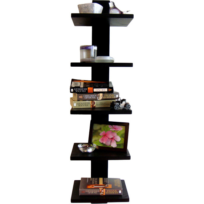 Spine black floating wall shelf