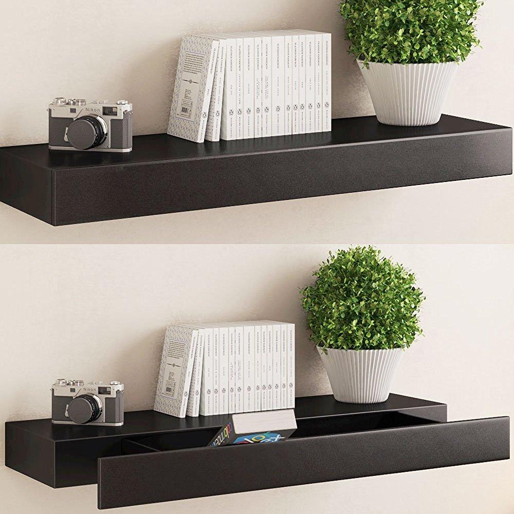 wall mounted shelf with drawer & 10+ Amazing Floating Shelf With Drawer To Make Your Home Fascinating