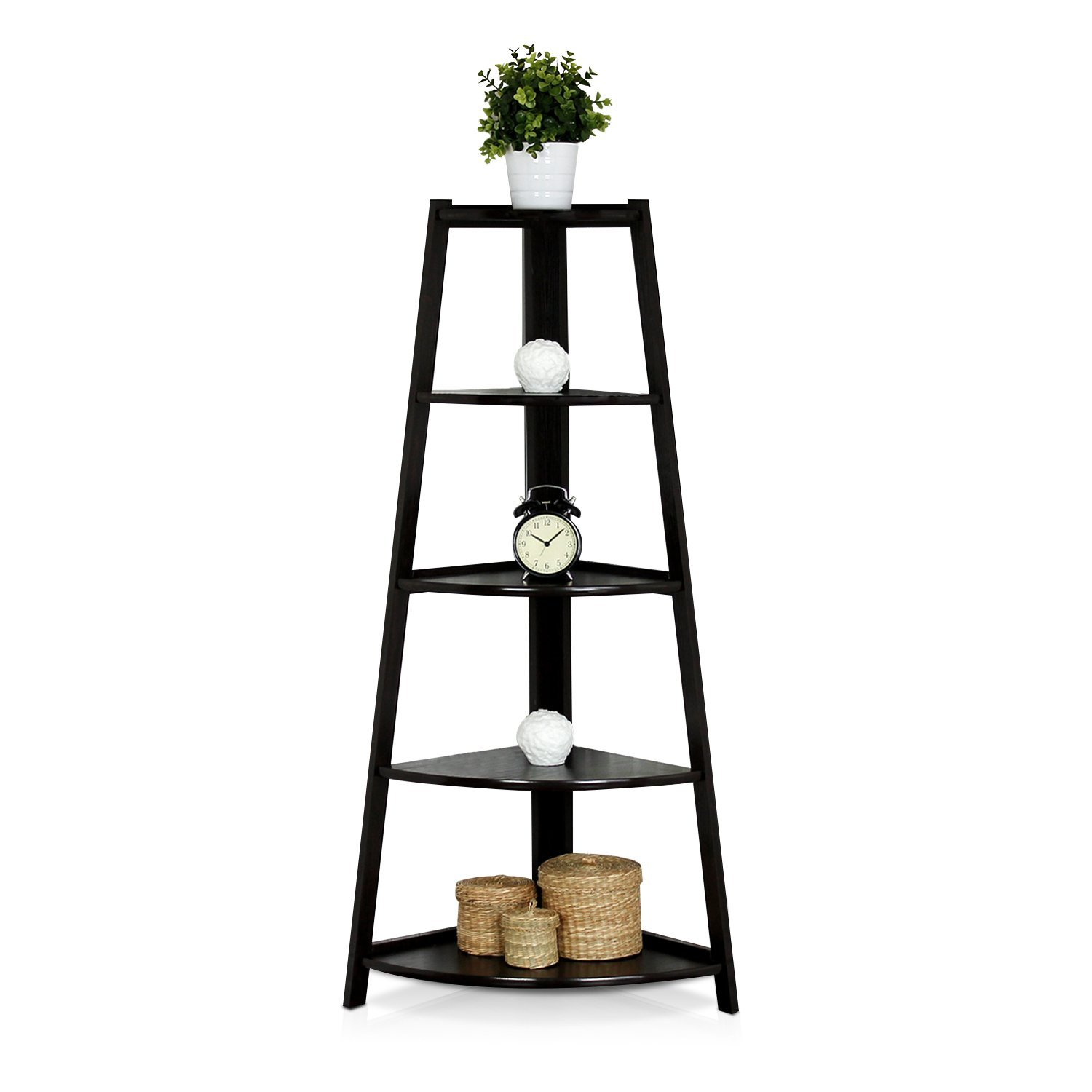 Top 12 Amazing Corner Ladder Shelves For Your Home Office