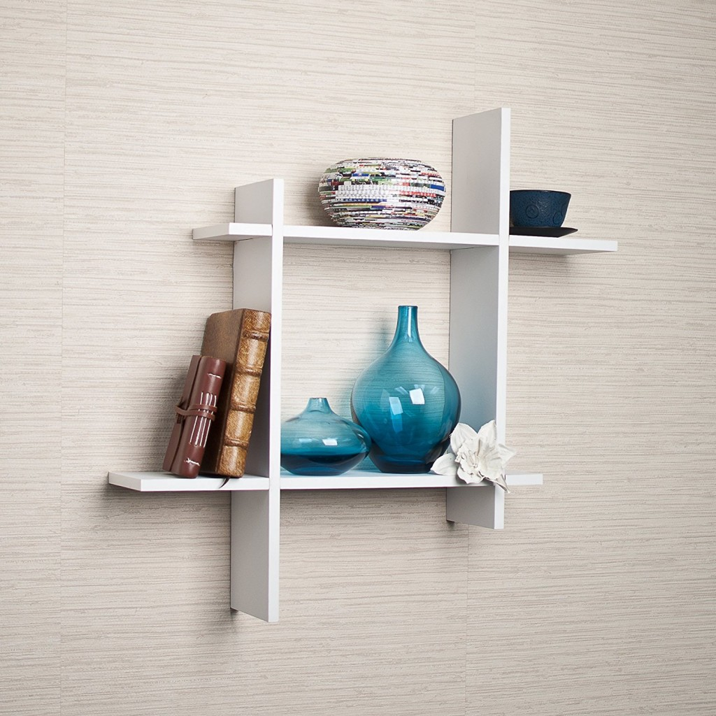 Top 15 floating wooden square wall shelves to buy online asymmetric white laminate square floating wall shelf amipublicfo Gallery