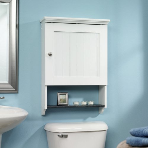 20 best wooden bathroom shelves reviews for Over the toilet cabinet