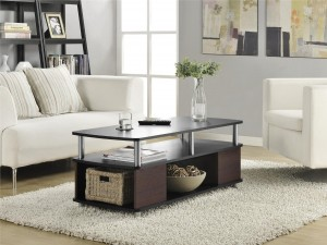 Black Coffee Table with shelves