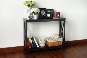 Console Sofa Table with Shelf Underneath