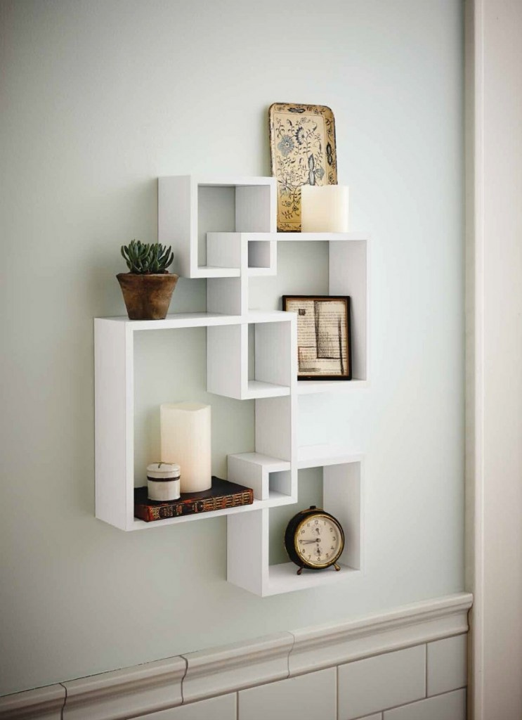 Intersecting Wall Square Shelf