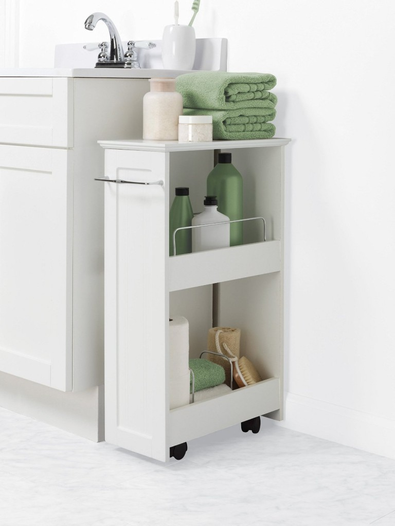 Rolling Bathroom Storage Shelf