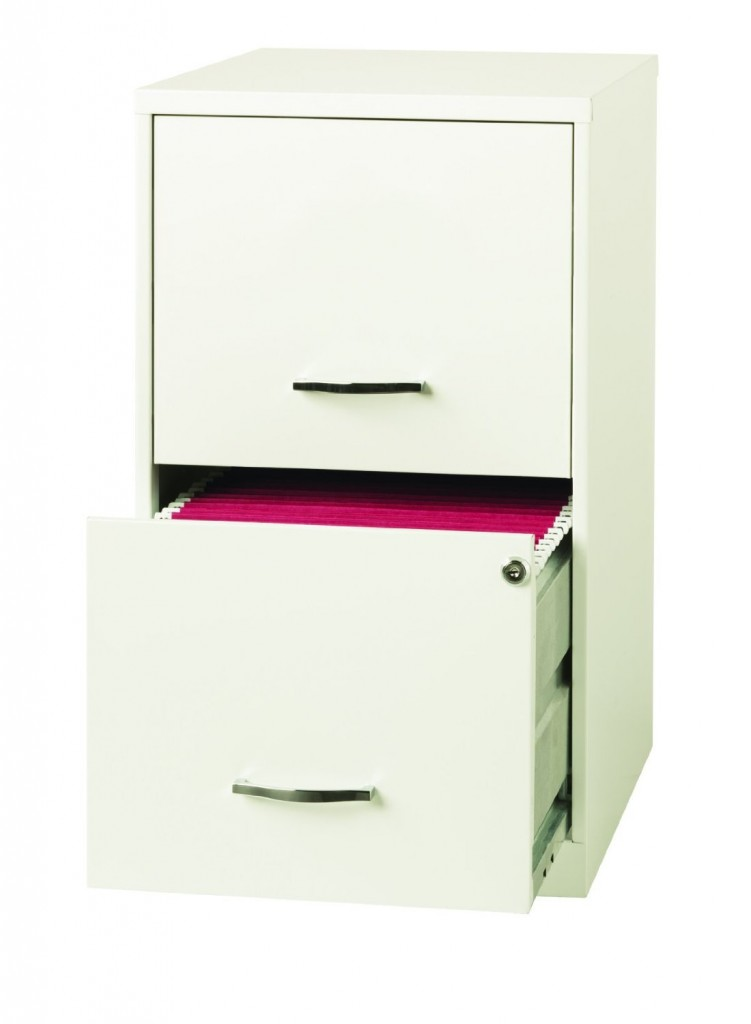 White - 2 Drawer File Cabinet with Locks